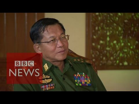 Myanmar's army chief 'expects a fair election' - BBC News