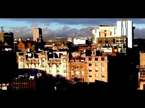 View from Lighthouse Tower in Glasgow in Winter Sun