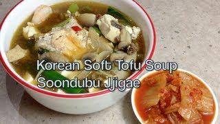 Soft Tofu Soup Korean Soondubu Jjigae Video Recipe Cheekyricho