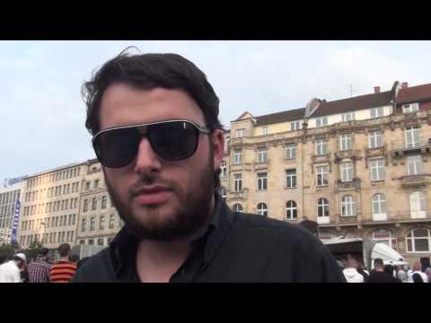 Interview mit Muslime über Zahid Khan bei Salafisten-Kundgebung (Pierre Vogel)