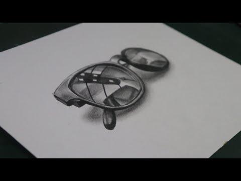 REALISTIC 3D SUNGLASSES SKETCH | BY SIBA SAHU
