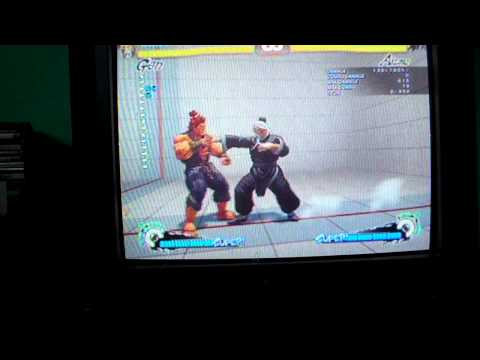 Super Street Fighter IV - Gen Forward Throw into reset Oga Crossup