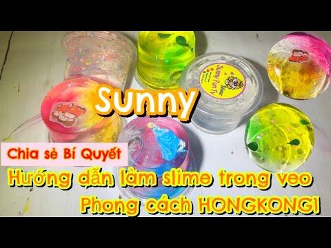 CÁC MẸO LÀM SLIME TRONG NHƯ HONGKONG | RESTOCK SLIME HONGKONG1 | SUNNY FUN TV
