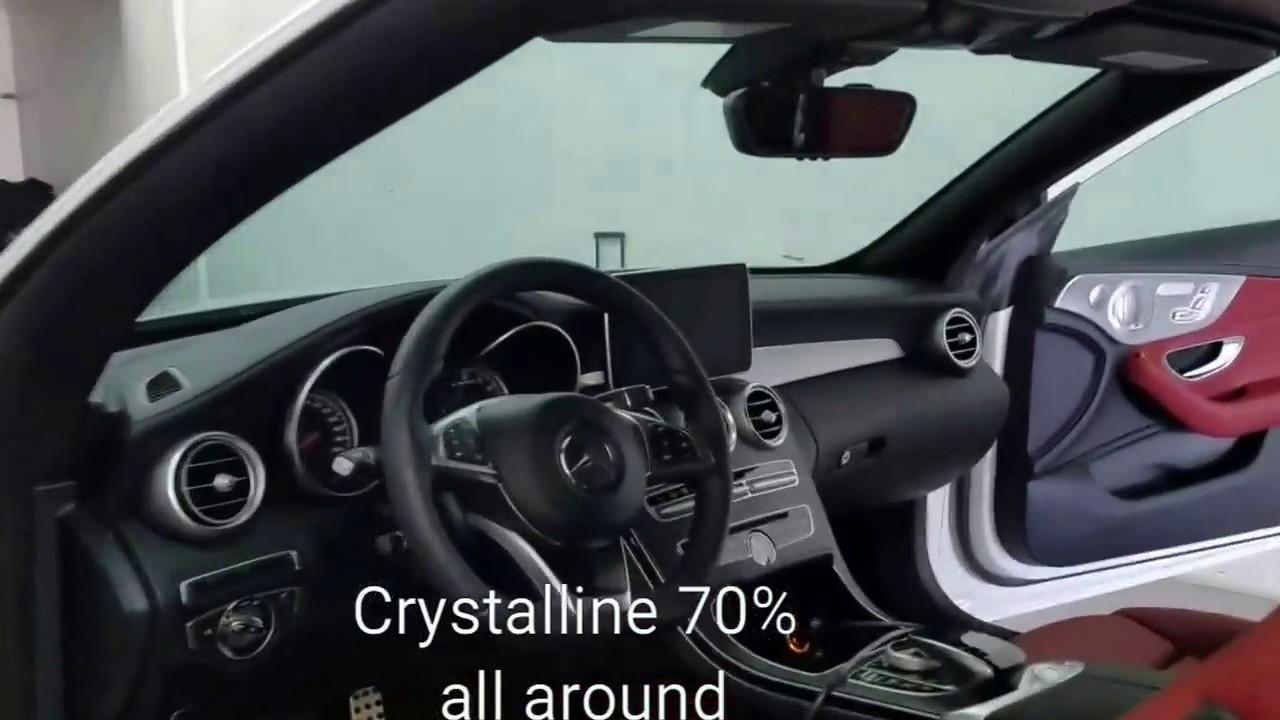 3m Window Tinting 70 Crystalline Miami Auto Tint Youtube