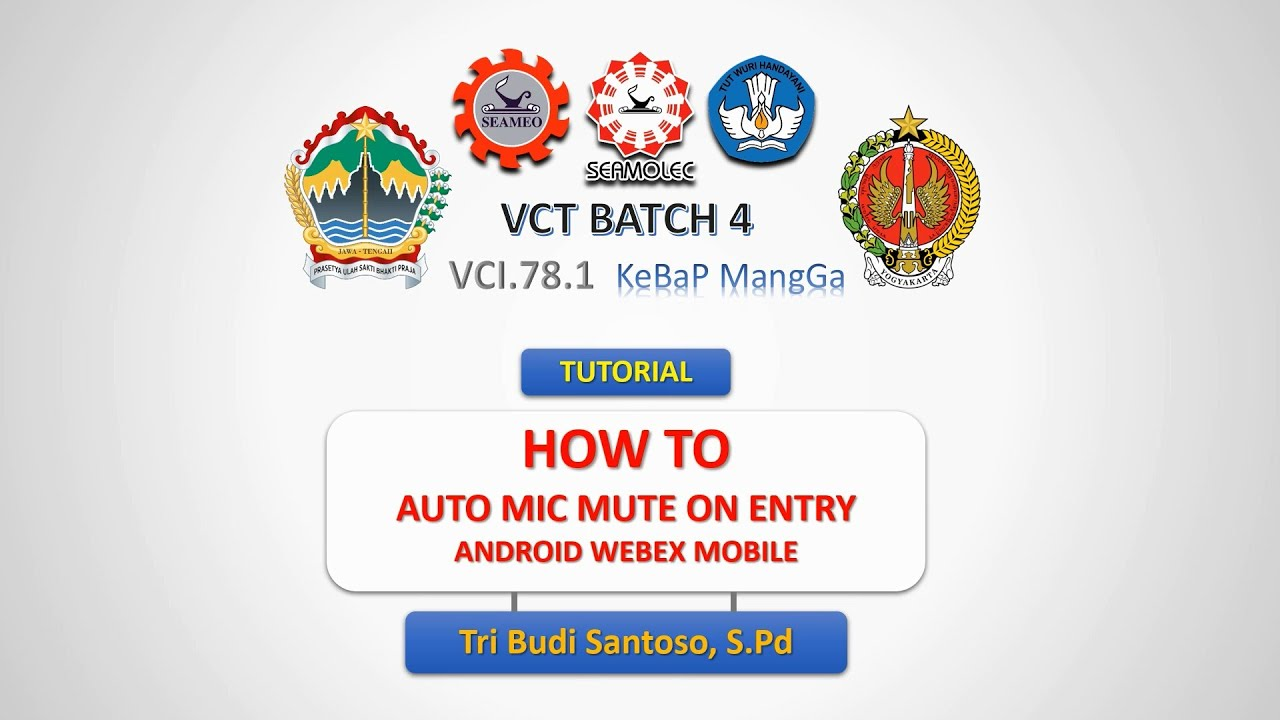 How to - Auto Mute Microphone on Entry - Webex Meetings - Android