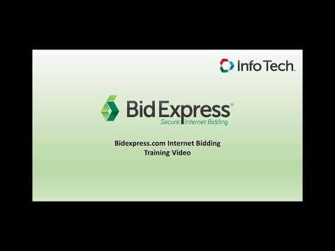 Info Tech, Inc. the Bid Express Service Training Video