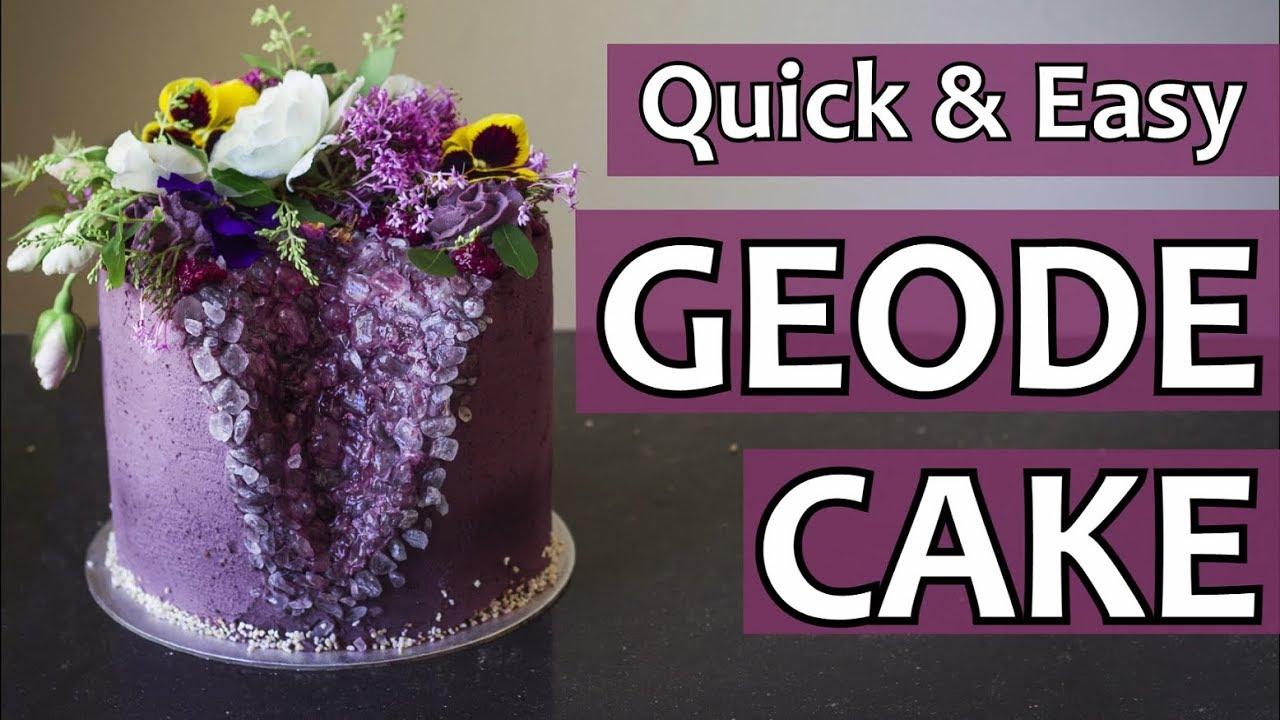 Easy Geode Cake
