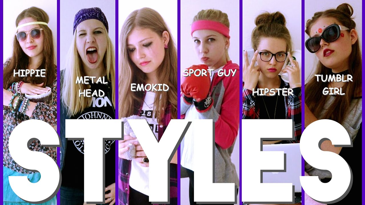 STYLES | FROM HIPPIE TO TUMBLR GIRL - YouTube
