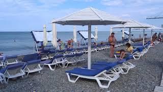 """Пляж """"Взморье"""" в Лазаревском. Раннее, теплое летнее утро 20 июля 2018"""