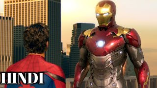 Spider-Man & Iron-Man Argument For Spider-Man Suit Scene HD In Hindi - Spider-Man Homecoming (2017)