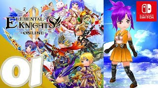 Elemental Knights R [MMORPG] [Switch] - Gameplay Walkthrough Part 1 Prologue - No Commentary