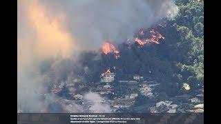 Nice: important incendie à Carros, des évacuations en cours