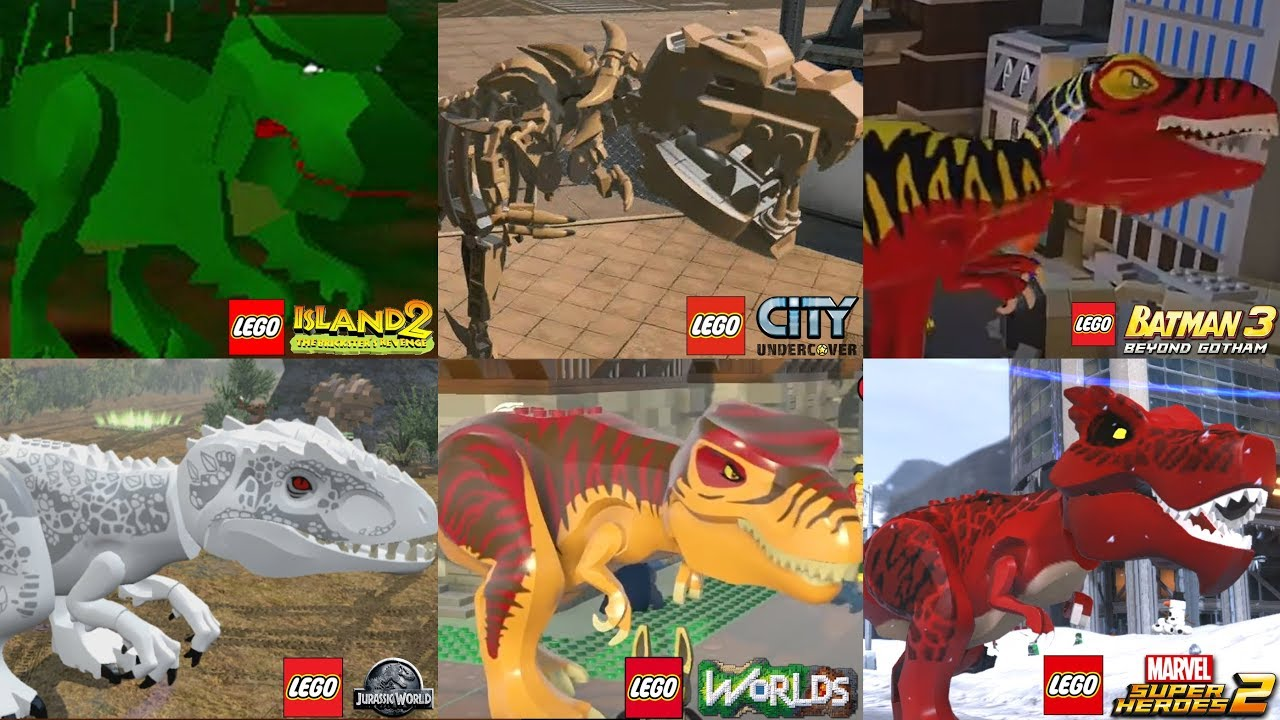All Dinosaurs In Lego Videogames 2001 2018 Youtube