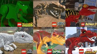 ALL Dinosaurs in Lego Videogames (2001 - 2018)