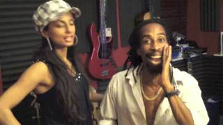 """Bionic Love"" - Gary Nesta Pine & Tina Sugandh Get Silly in the Recording Studio!"
