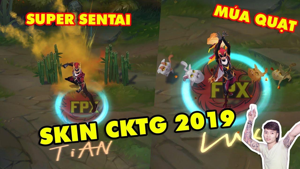 Cực sốc với trang phục CKTG 2019 FPX ăn theo Super Sentai: Vayne múa quạt, Gangplank trẻ trâu LMHT
