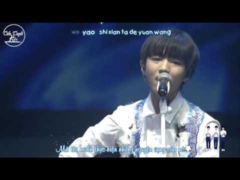 """[TTK][Vietsub-Kara][LIVE 130816]Đàn Ghitar hát """"Lời của cây""""-Vương Tuấn Khải Fan Meeting GuangZhou"""