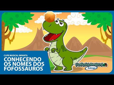 Música infantil animada - Conhecendo os NOMES DOS FOFOSSAUROS