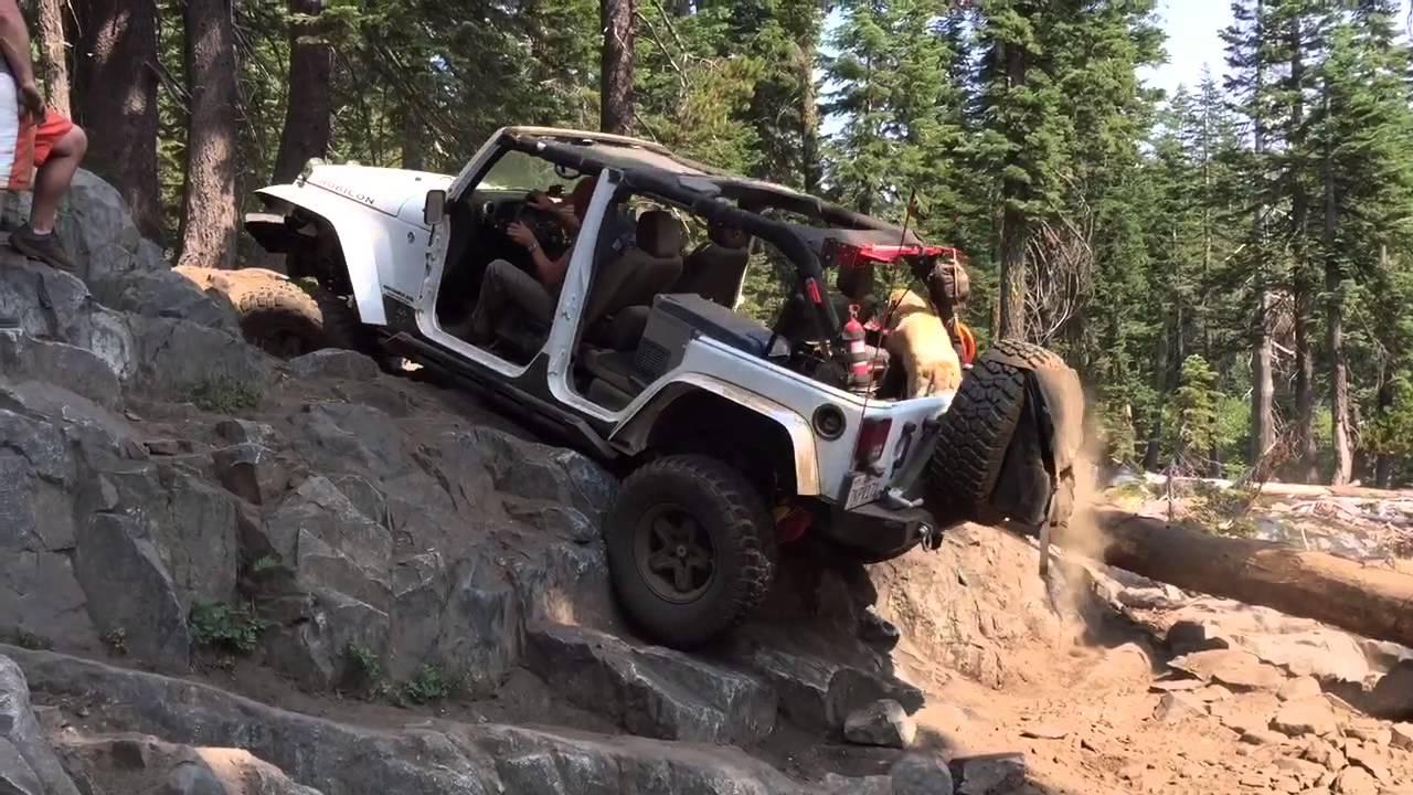 4x4 Jeep Wrangler Rubicon at High Lakes Saddle Lake Trail with ...