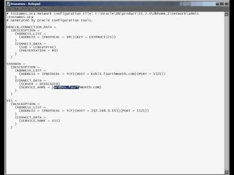Oracle - Understanding the tnsnames.ora and listener.ora files