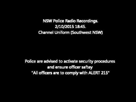 NSW POLICE Credible Threat Radio Recordings 2/10/2015 1845
