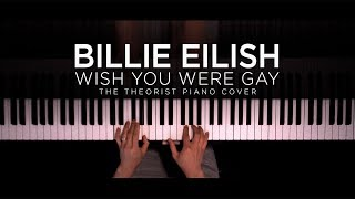 Billie Eilish - wish you were gay | The Theorist Piano Cover thumbnail