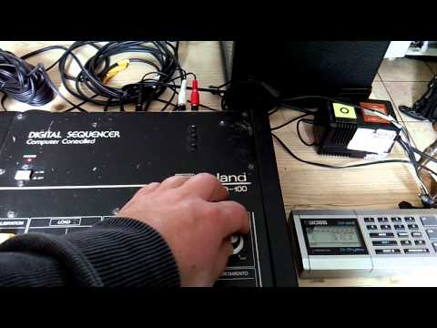 Roland CSQ-100 sequencer demo