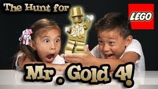 The Hunt for MR. GOLD PART 4 - BE THE GOLD! LEGO Series 10 Minifigure Unboxing & GIVEAWAY #bethegold