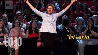 The Post's theater critic reviews Elizabeth Warren's campaign performance