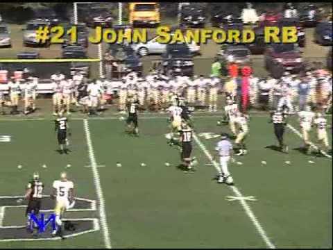 John Sanford 2010 Junior Year Football Highlights