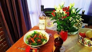 Сливочный буйабес. Сухое вино. Тосты и соус руй.
