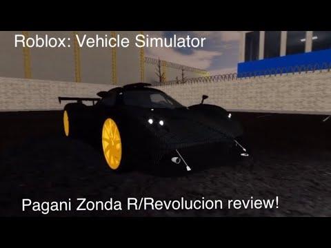 Pagani Zonda R (Revolucion) Review! | Vehicle Simulator - Roblox