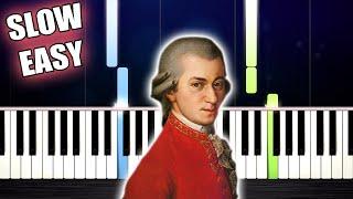 Mozart - Lacrimosa - SLOW EASY Piano Tutorial by PlutaX
