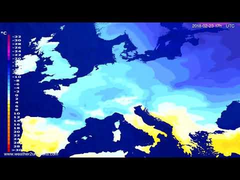 Temperature forecast Europe 2018-02-21