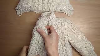 Обзор детской курточки спицами
