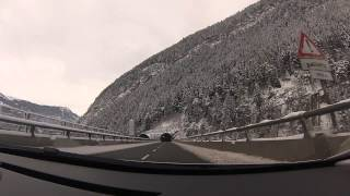 France to Italy via Mont Blanc Tunnel in January