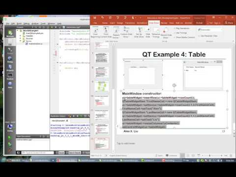 Alex X. Liu Software Design Pattern Course 35: GUI with QT Example 4