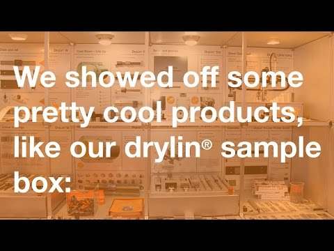 Showing off the drylin® sample box at PACK EXPO