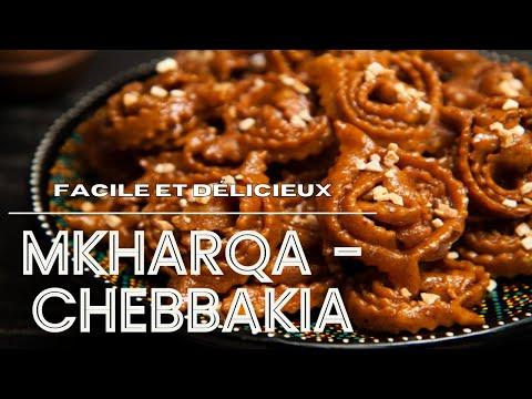 ramadan-gateau-marocain-:-mkharqa---chebbakia-rapide-et-facile