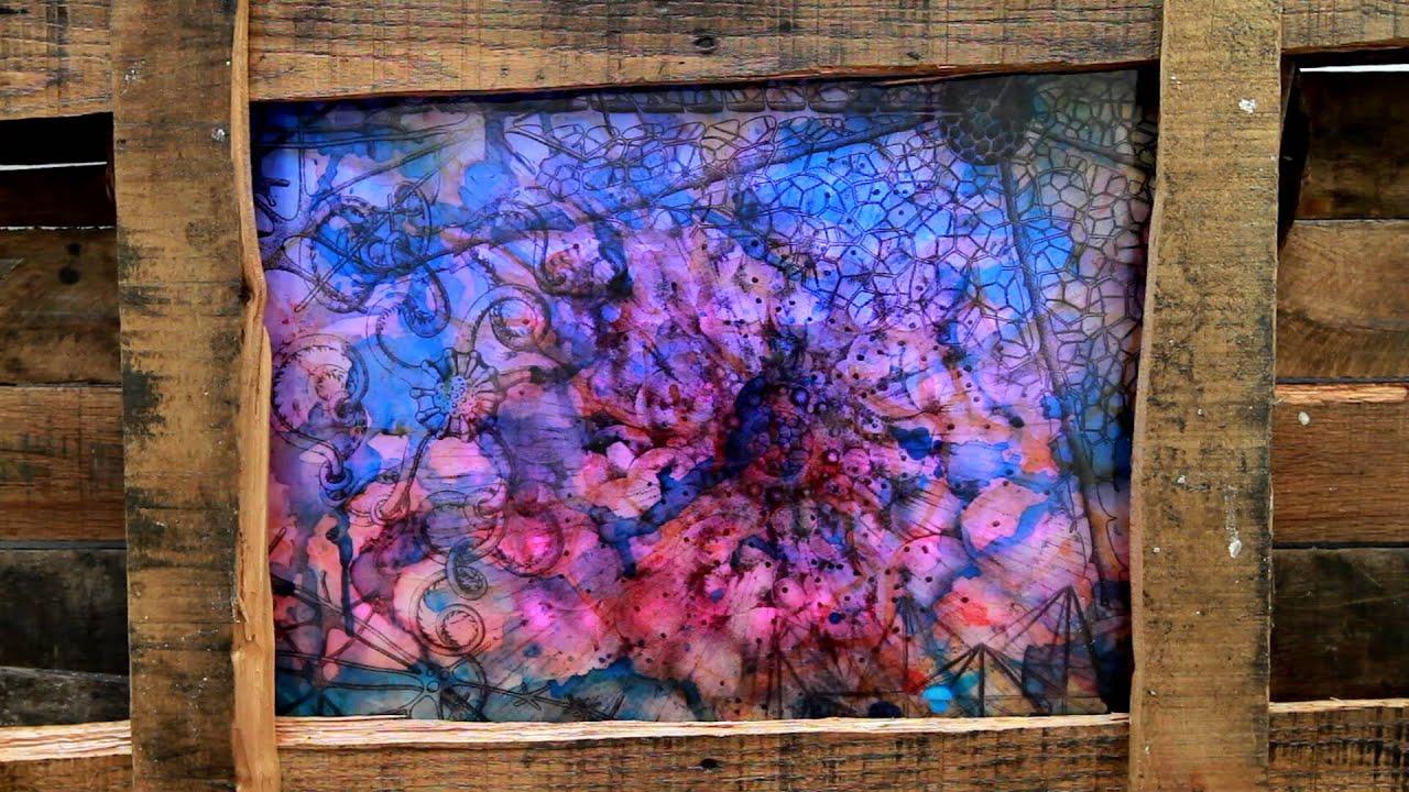 Led Backlit Resin Art Youtube