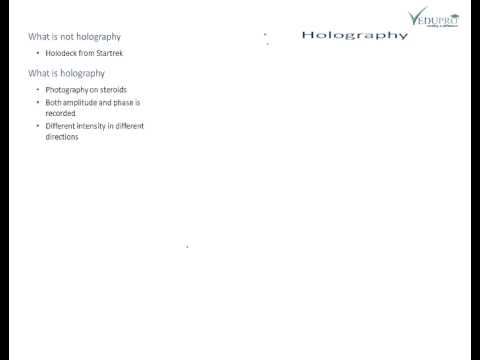 Fundamentals of Holography, Principle of Holography, Holography