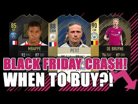 FIFA 18 BLACK FRIDAY MARKET CRASH TIME TO BUY | TRADING TO G