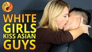 White Girls Kiss Asian Guys For The First Time on Valentine's Day (AMWF) | 白人女生第一次吻亚洲男生 | 화이트 여성 한국
