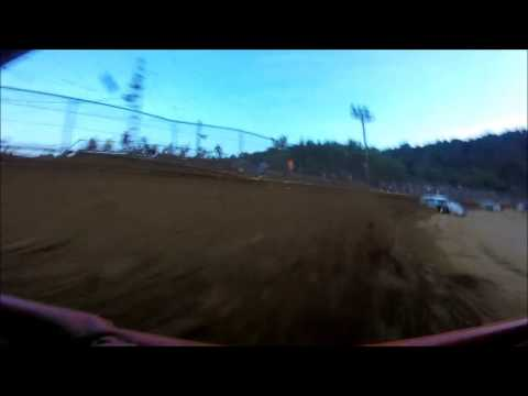 Tyler County Speedway Modified Heat 7-7-2016, Rick Venham GoPro