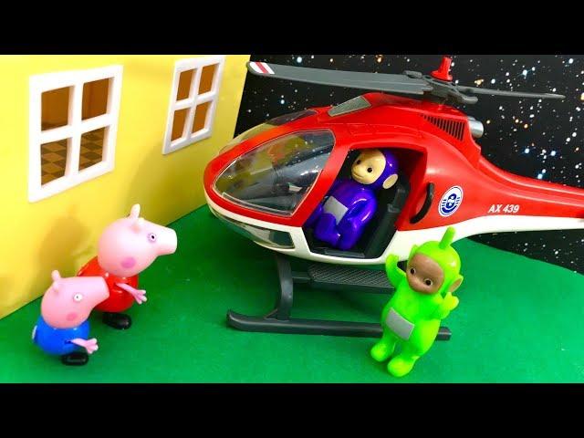 ? Swinka Peppa i Teletubisie w helikopterze ? Bajka po Polsku dla dzieci