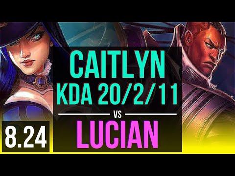 CAITLYN & Karma vs LUCIAN & Blitzcrank (ADC) | KDA 20/2/11, Legendary | EUW Diamond | v8.24