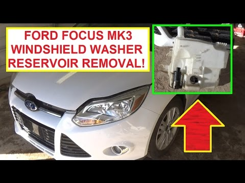 windshield washer reservoir tank removal and replacement ford focus mk3 2011 2016 youtube 2011 Ford Fusion Fuse Box Location 2007 Ford Focus Fuse Box Location