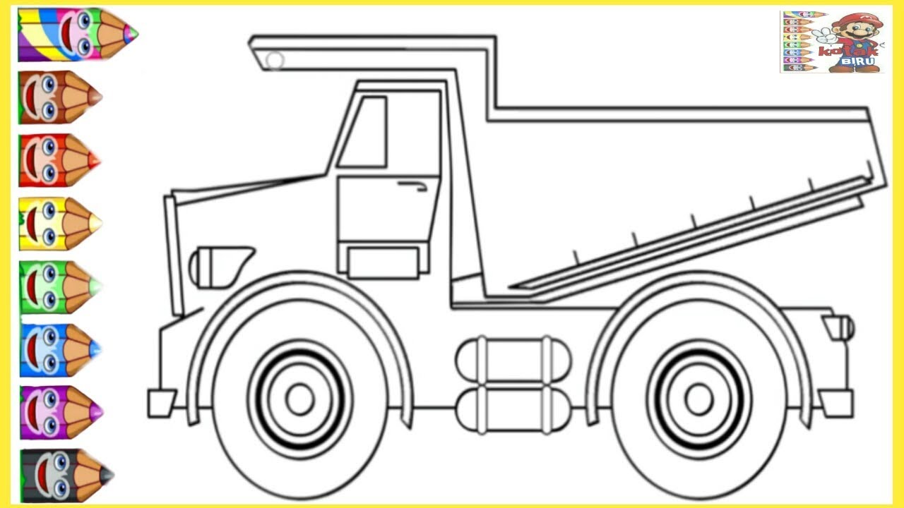 Truck How To Draw And Colouring Truck Learn Colour For Kids