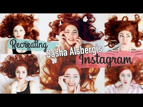 RECREATING SASHA ALSBERG'S INSTAGRAM | Feat. Booksplosion