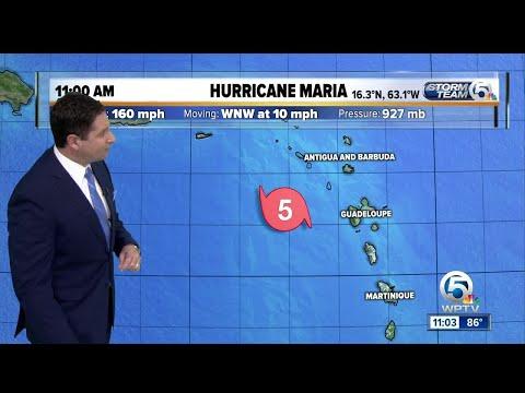 Hurricane Maria still at Category 5 storm